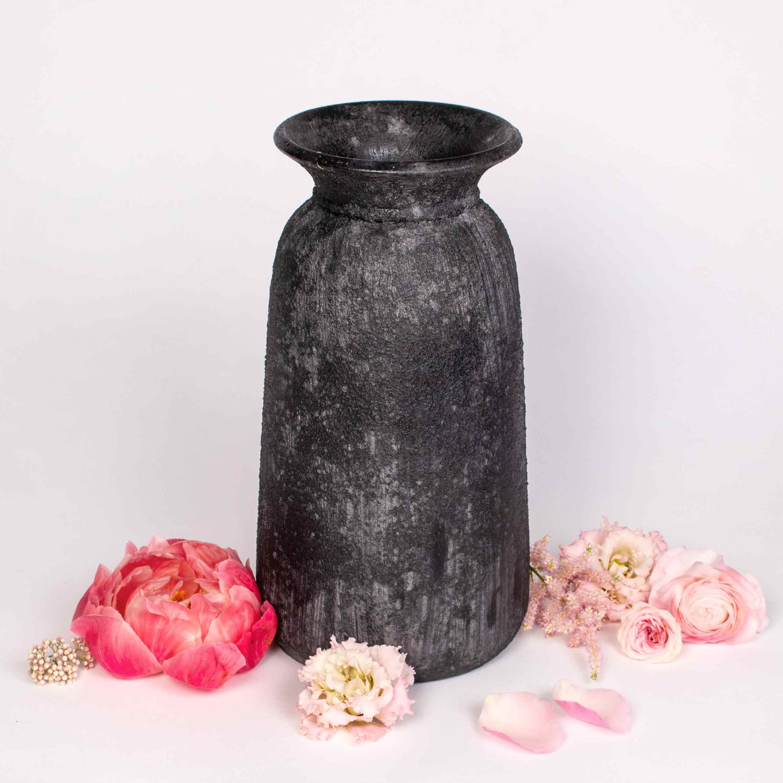 Vaza inalta Black Charcoal